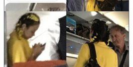 Виктория Романец и Антон Гусев снова опозорились на всю страну – на сей раз в самолете